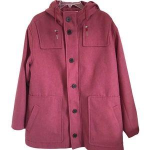 A New Day Full Zip Duffel Overcoat w/Hood in Rose